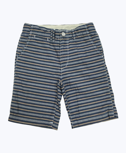 Blue & Brown Stripes Shorts
