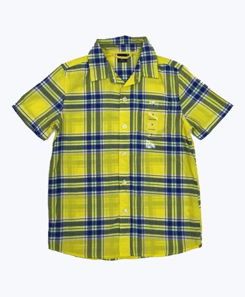Blue & Yellow Plaid Shirt