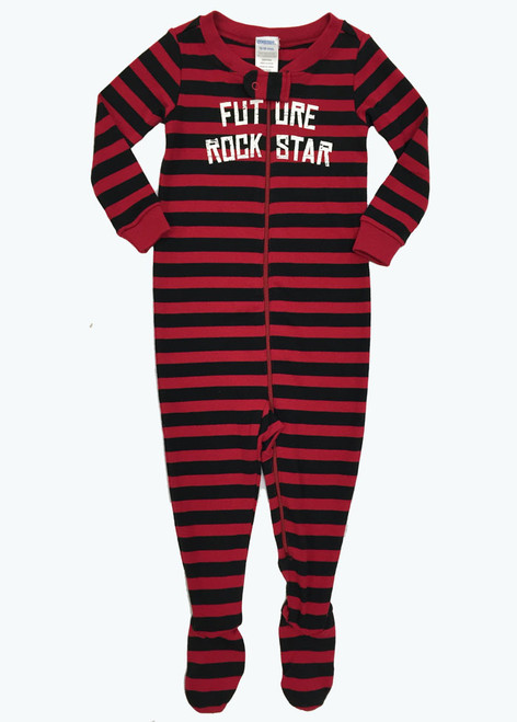 Black & Red Footed One-Piece