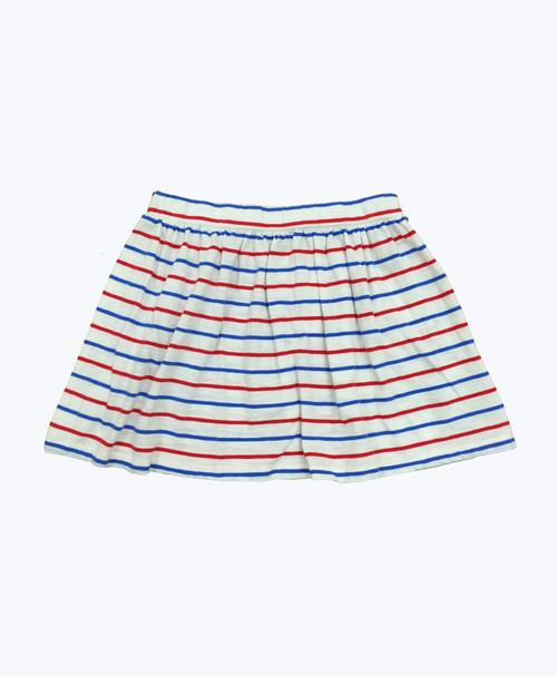 Red & Blue Stripes Skirt