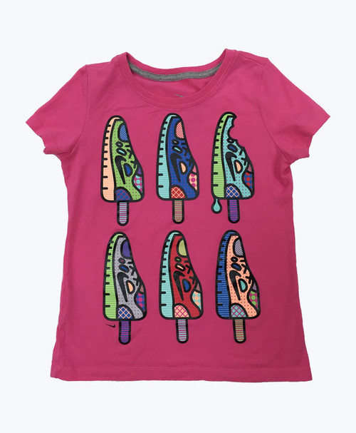 Hot Pink Tee Shirt, Little Girls