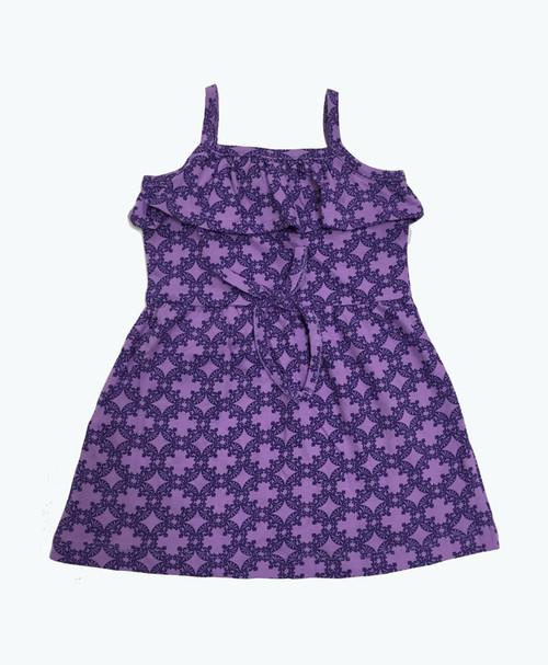 Purple Ruffle Organic Dress, Baby Girl