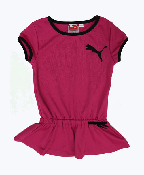 SOLD - Pink with Black Trim Dress