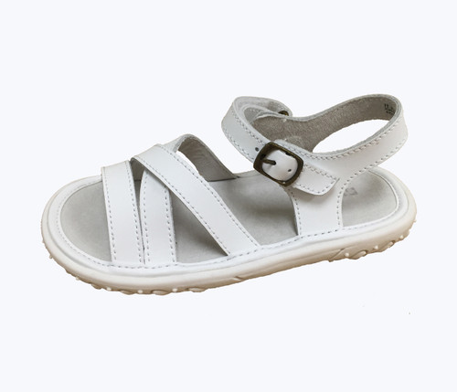 White Crisscross Sandals