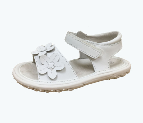 White Flower Trio Sandals