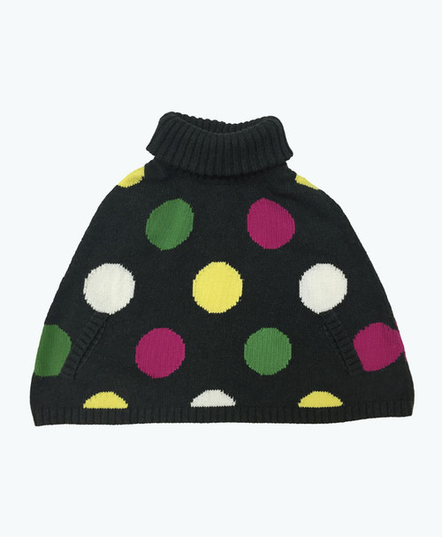 Polka Dots Poncho Sweater