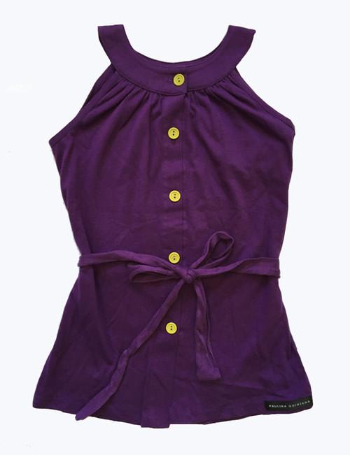 Purple & Light Green Mandarin Dress, Toddler Girl