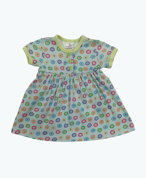 Green Floral Dress, Baby Girls