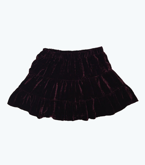Burgundy Velour Skirt