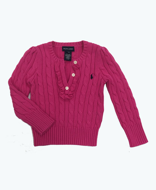 Pink Cable Knit Sweater