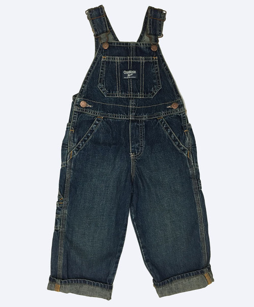 Dark Denim Overalls, Toddler Boys