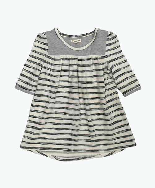 Beige Oatmeal High/Low Tunic, Little Girls