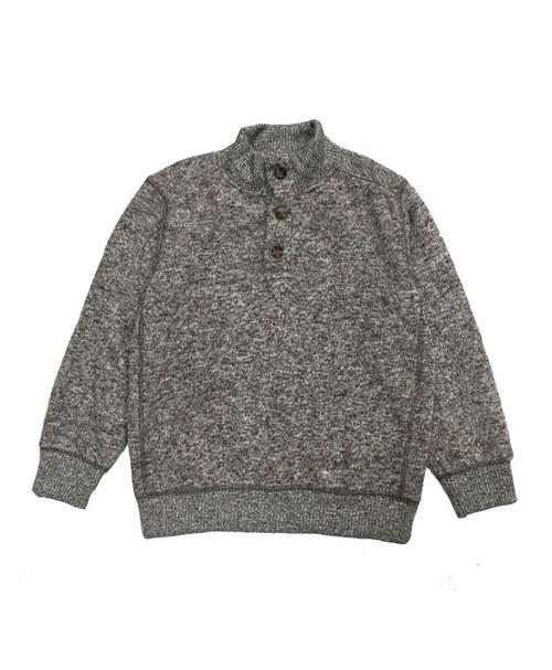 Heather Brown Fleece Pullover