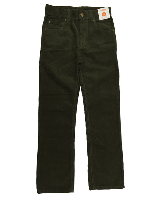 Boys Olive Green Corduroy Pants