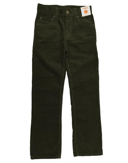 Boys Olive Green Corduroy Pants