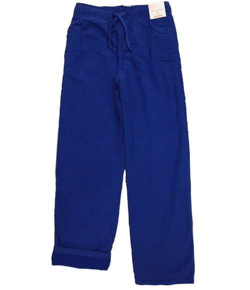 Blue Jersey-Lined Active Pants