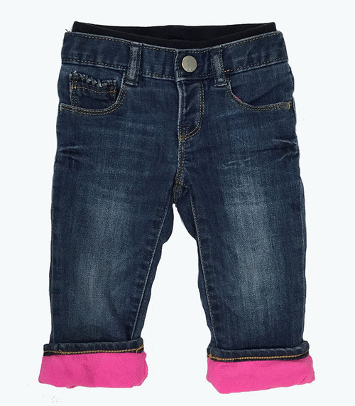 Fleece Pull-On Denim Jeans