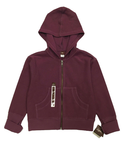 Purple Plum Zip-Up Hoodie, Little Girls
