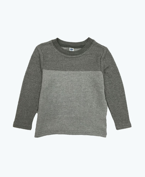 Gray Color Blocks Top