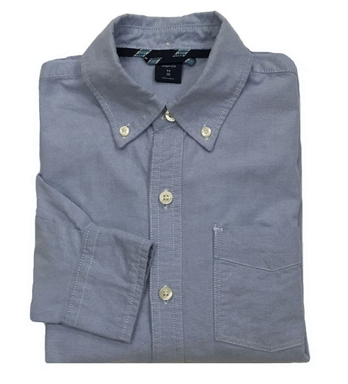 Blue Oxford Button-Down Shirt