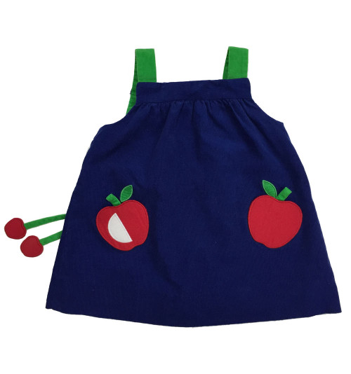 Apple Corduroy Jumper Dress, Baby Girls