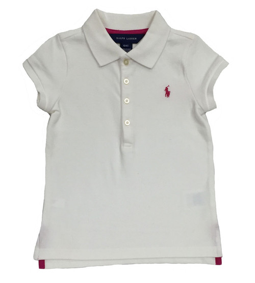 White Polo Shirt, Toddler Girls