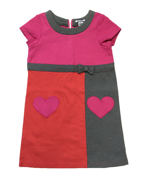 Rose Azalea Color Block Heart Dress