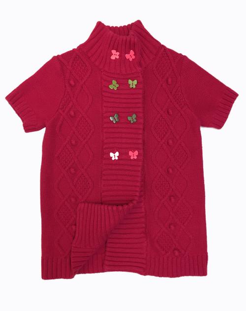 Red Butterfly Cardigan, Little Girls
