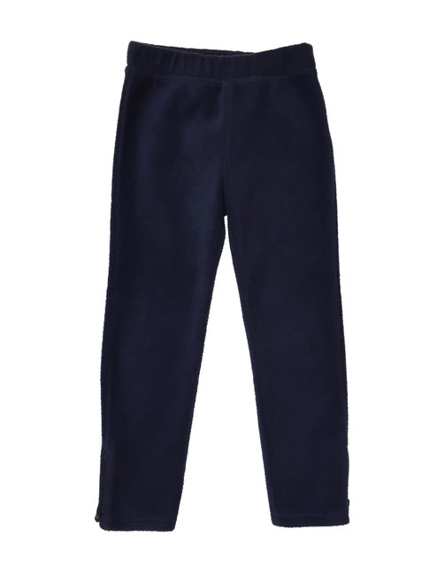 Navy Zip Ankle Fleece Pants