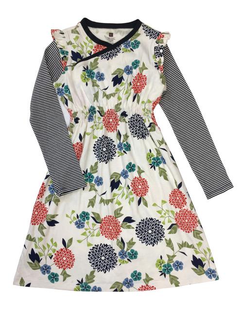 Floral Wrap Neck Dress