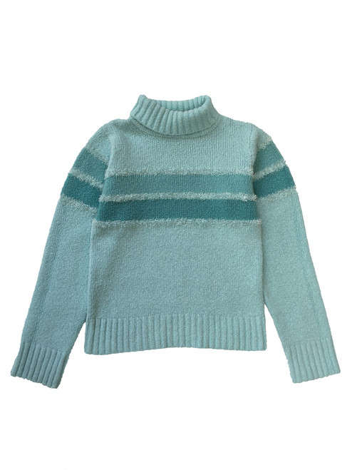 Mint Fuzzy Turtleneck Sweater