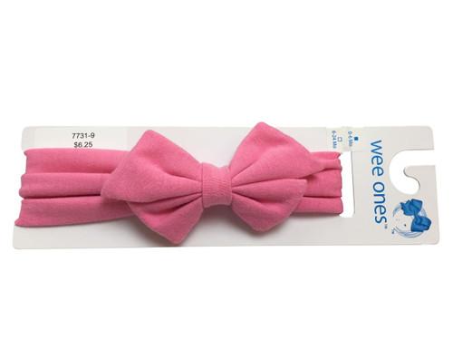 Pink Bowtie Headband
