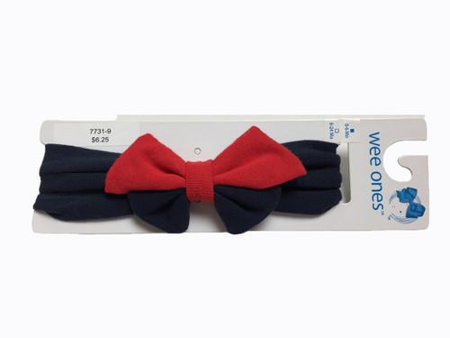 Red and Navy Bowtie Headband