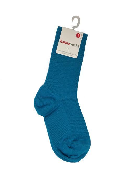 Teal Ribbed Socks