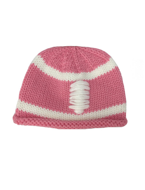 Pink Football Beanie