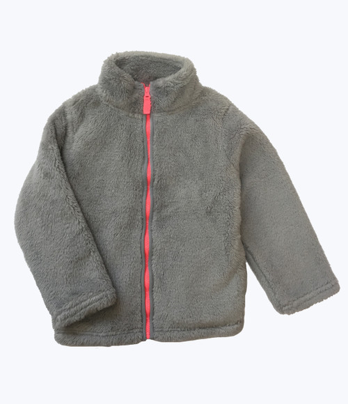Gray Fuzzy Jacket, Toddler Girls