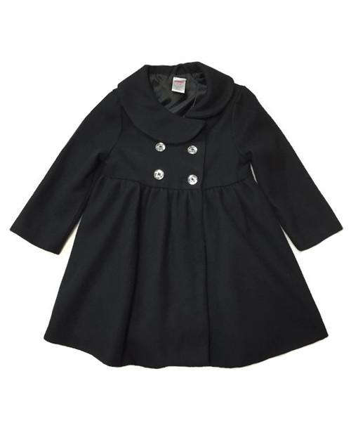 Black Wool Blend Peacoat
