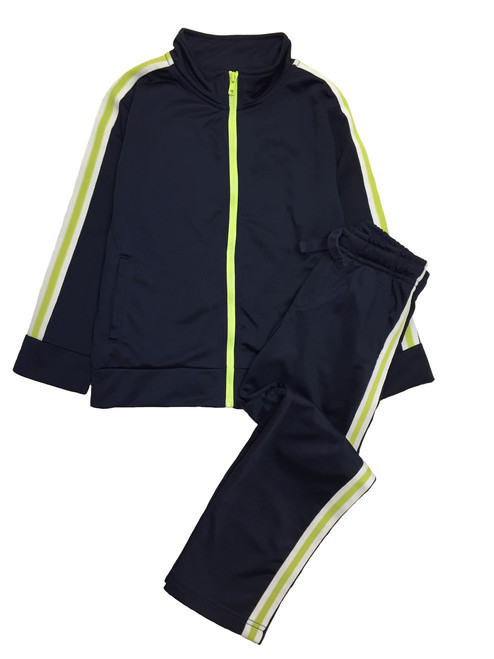 Little Boy Navy/Green Tracksuit