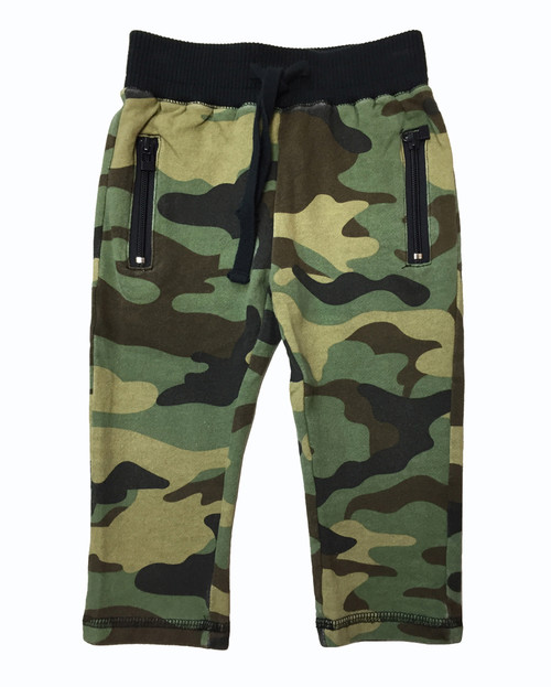 Toddler Boy Green Camo Pants