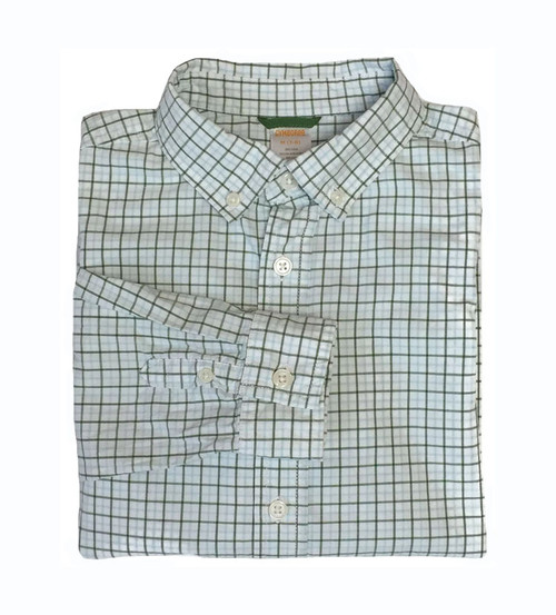 Boy Green Check Button-Down Shirt