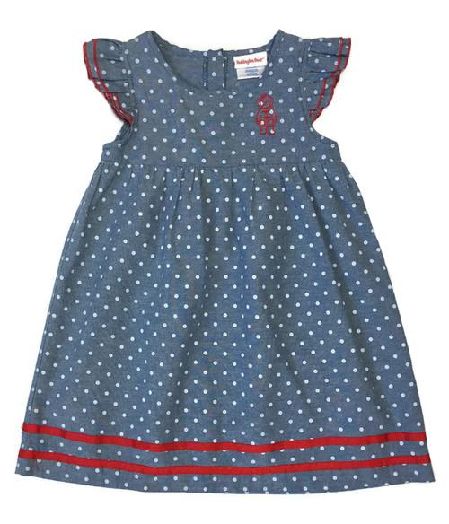 Chambray Polka Dot Dress, Toddler Girl