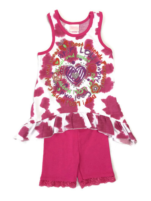 Tank Top & Shorts Set, Toddler Girls