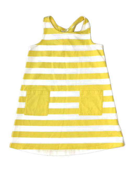 Striped Knot Back Pocket Sundress, Little Girls