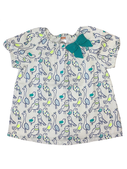 Bluebird Print Top, Toddler Girls