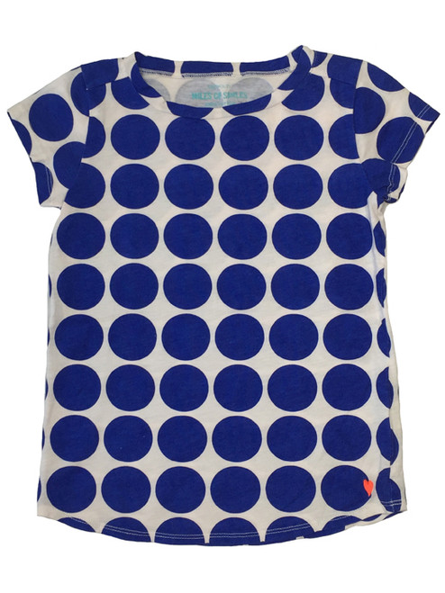 Navy Blue Polka Dot Tee,  Little Girls