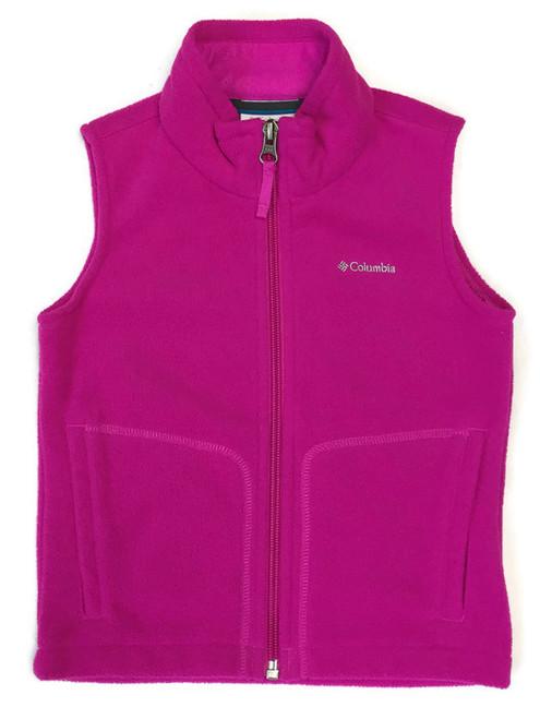 Bright Pink Fleece Vest, Toddler Girls