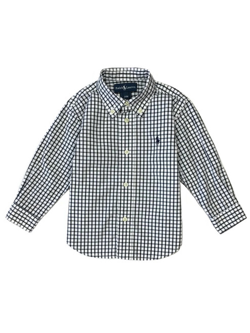 Black and White Check Shirt, Baby Boys