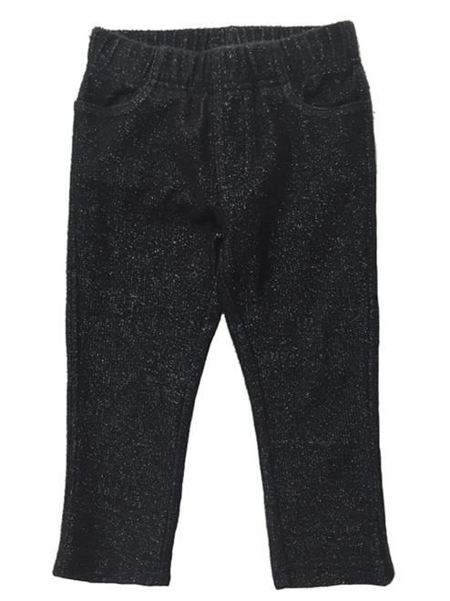 Black Sparkle Leggings, Toddler Girls