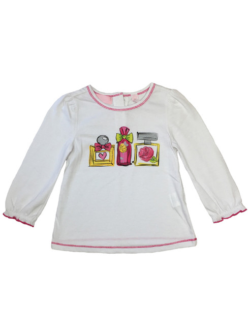 Perfume Bottles Graphic Tee, Baby Girls