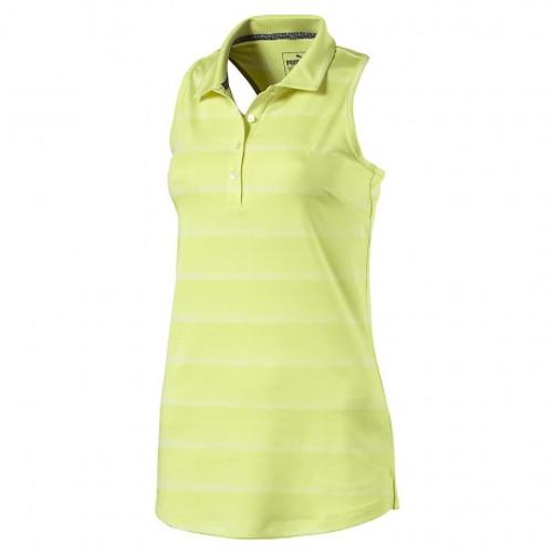 2eb42723b4f7 Puma Racerback Sleeveless Golf Polo - Sunny Lime